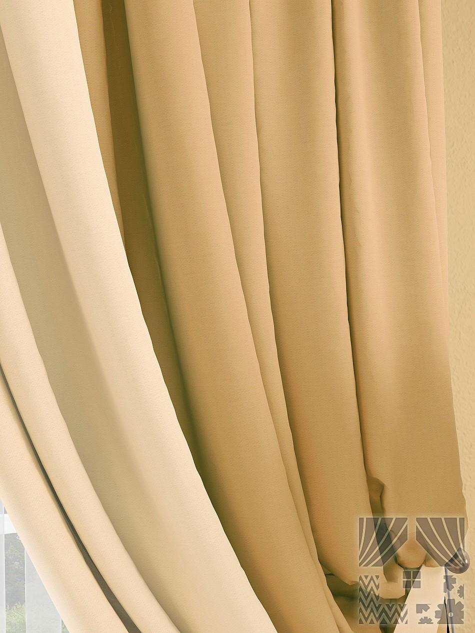 Шторы ТомДом Классические шторы Фонти Цвет: Бежево-Золотой