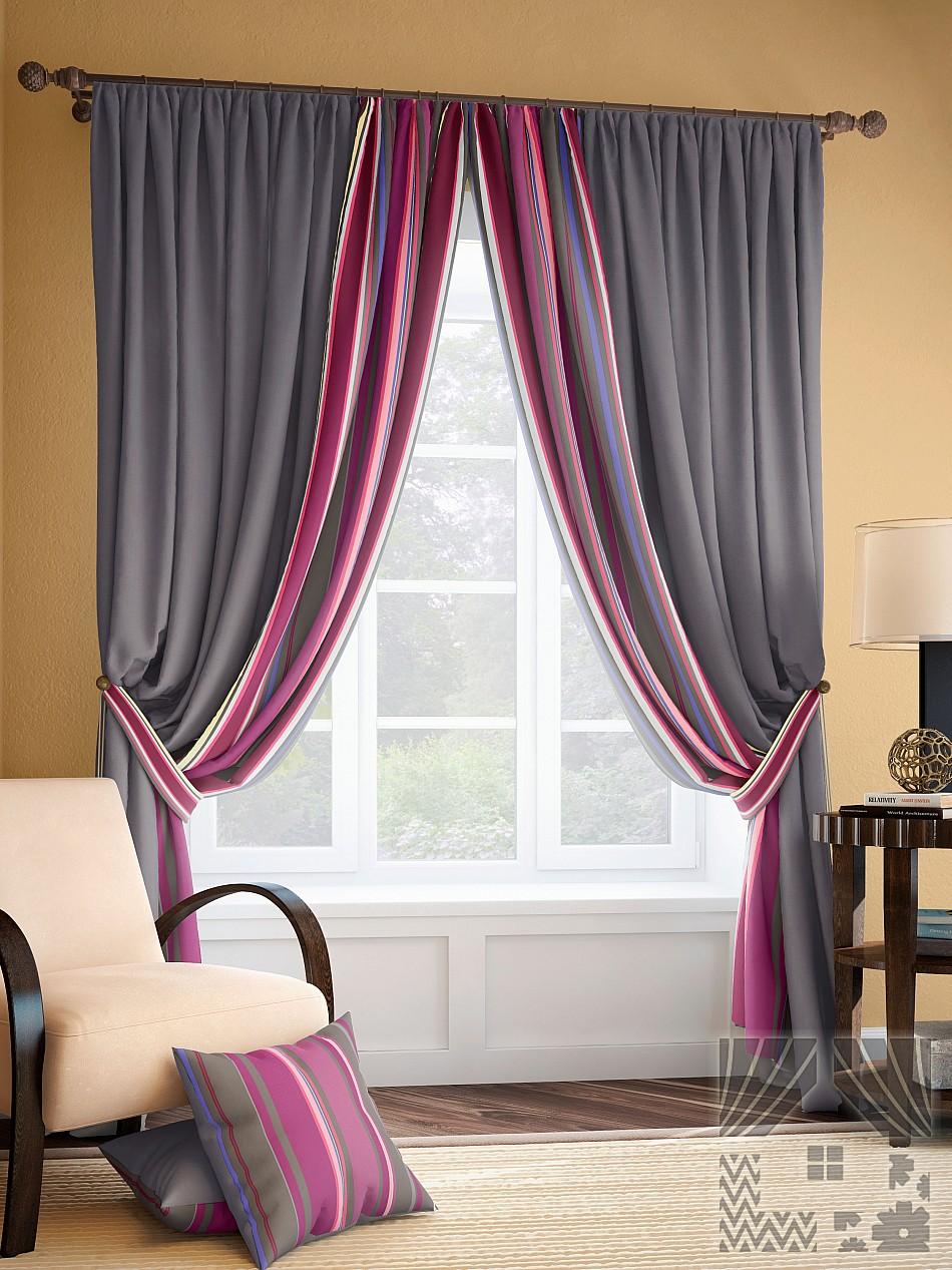 Шторы ТомДом Классические шторы Энже Цвет: Серый