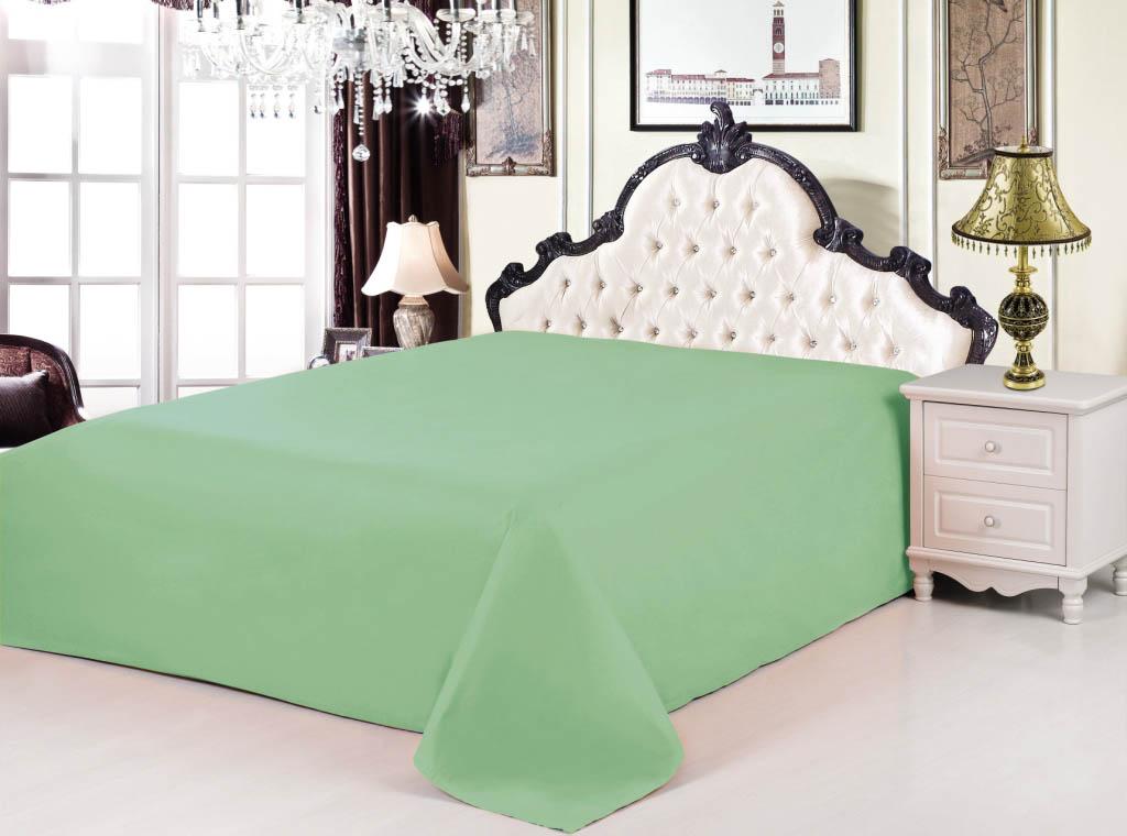 где купить {} Valtery Простыня Linn Цвет: Зеленый (200х220) по лучшей цене