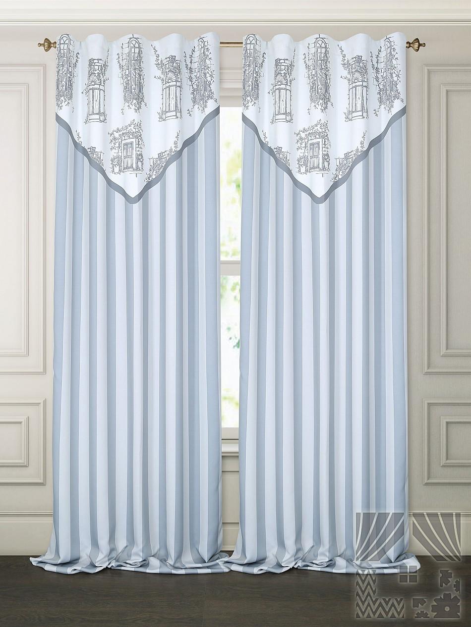 Шторы ТомДом Классические шторы Арбела Цвет: Серый