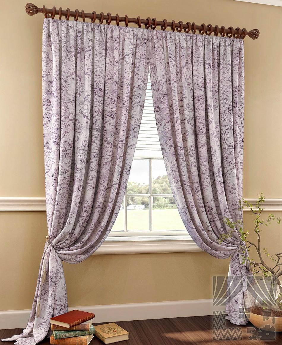 Шторы ТомДом Классические шторы Арнфаста Цвет: Фиолетовый шторы tac классические шторы winx цвет персиковый 200x265 см