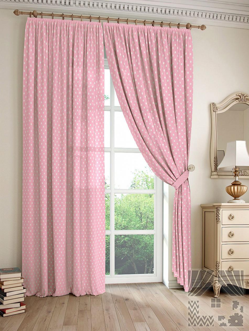 Шторы ТомДом Классические шторы Дрош Цвет: Розовый