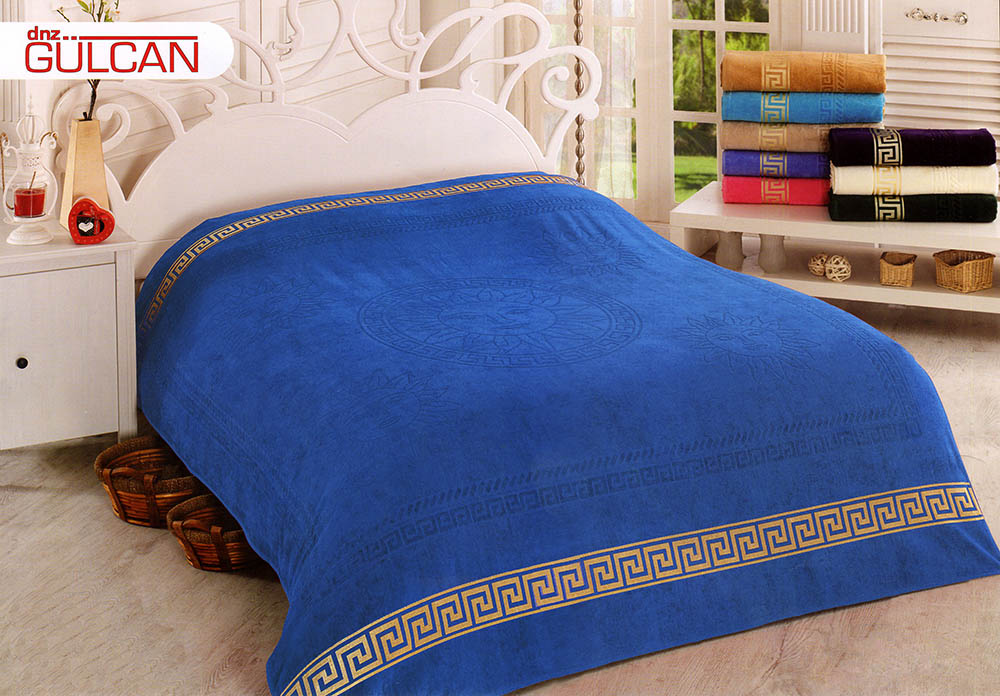 {} Gulcan Покрывало-простыня Greek Cotton (160х220 см) простыни candide простыня ivory cotton fitted sheet 130г м2 40x80 см