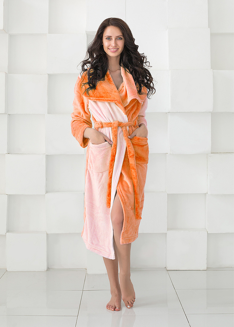 Домашние халаты Sleep iX Домашний халат HomySoft Цвет: Оранжевый (L) домашние халаты sleep ix домашний халат homysoft цвет розовый l
