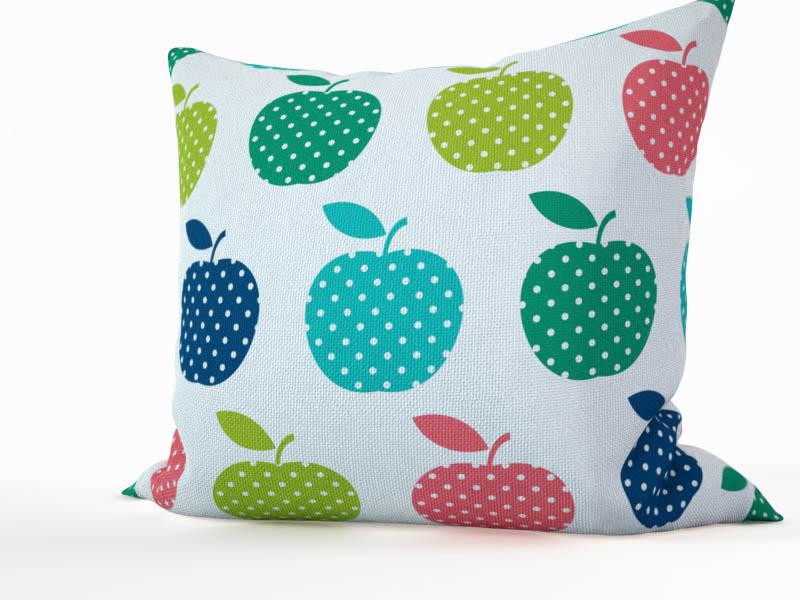 Декоративные подушки StickButik Декоративная подушка Цветные Яблочки (45х45)
