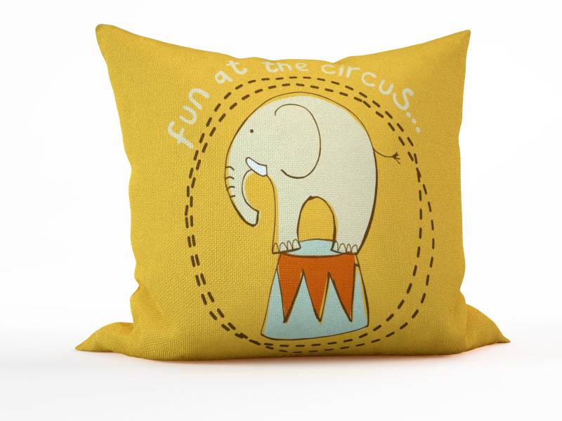 Декоративные подушки StickButik Декоративная подушка Цирковой Слон (45х45)