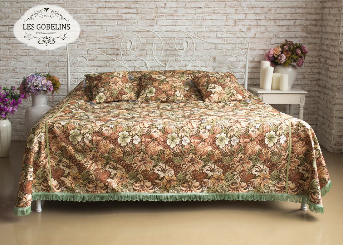 Покрывало Les Gobelins Покрывало на кровать Art Nouveau Lily (200х230 см) покрывало на диван les gobelins art nouveau lily 160 х 230 см