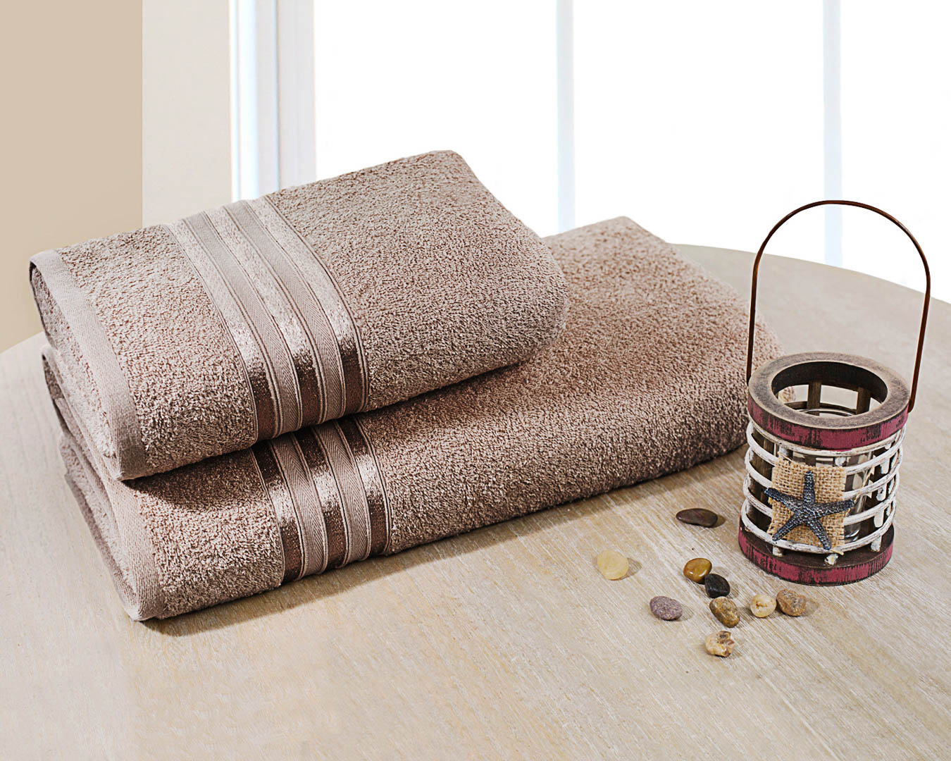 Полотенца Dome Набор из 2 полотенец Harmonika Цвет: Коричневый sikel набор из 2 полотенец nazande цвет коричневый