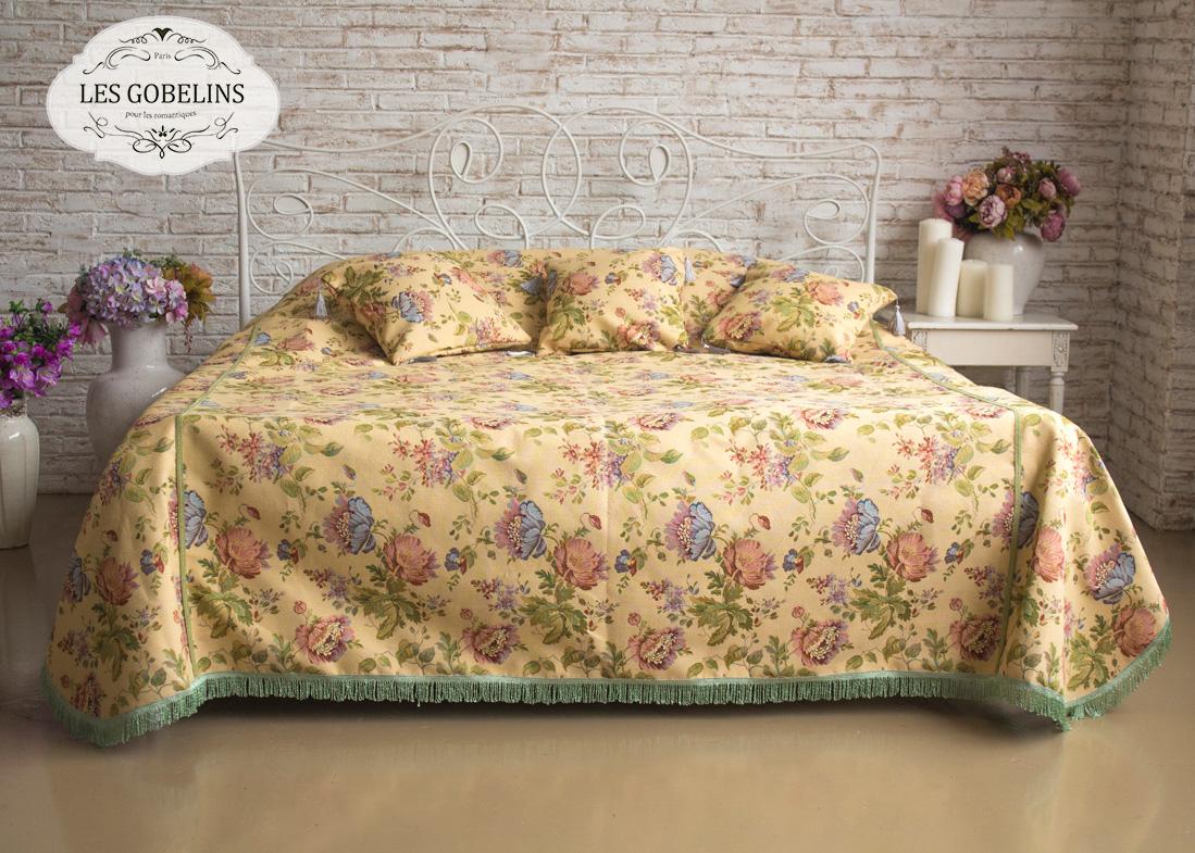 Покрывало Les Gobelins Покрывало на кровать Gloria (220х220 см) желтое покрывало на кровать