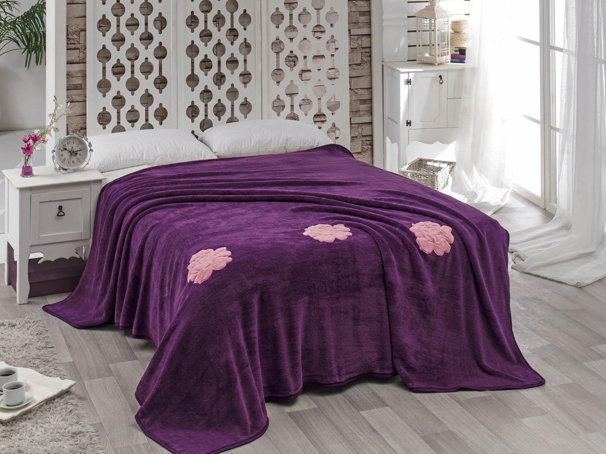 Покрывало Karna Покрывало Rose Цвет: Фиолетовый (200х220 см) покрывало karna rose с вышивкой пудра 200х220 см