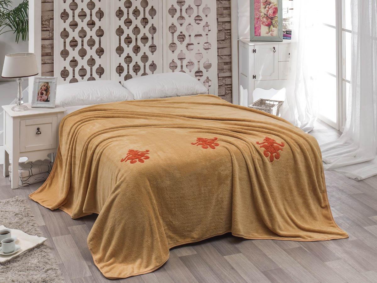 Покрывало Karna Покрывало Damask Цвет: Бежевый (200х220 см) покрывало karna rose с вышивкой пудра 200х220 см