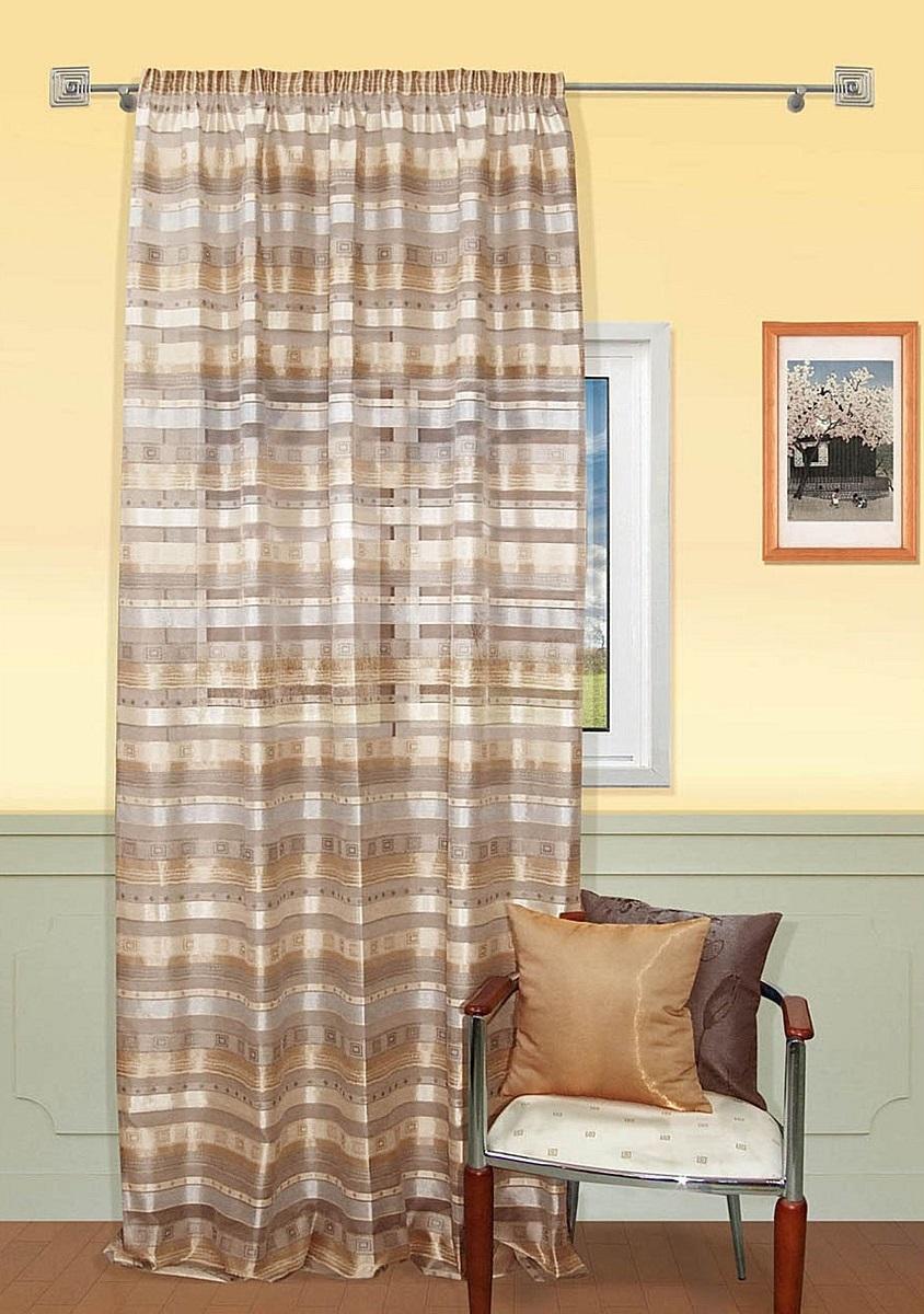 Шторы Kauffort Классические шторы Macadi - XL Цвет: Коричневый шторы kauffort классические шторы montana xl цвет фиолетовый желтый
