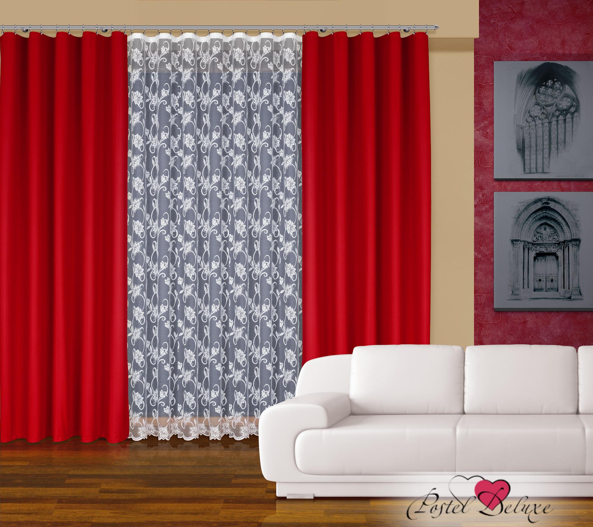 Шторы Haft Классические шторыLanaЦвет: Красный шторы tac классические шторы winx цвет персиковый 200x265 см