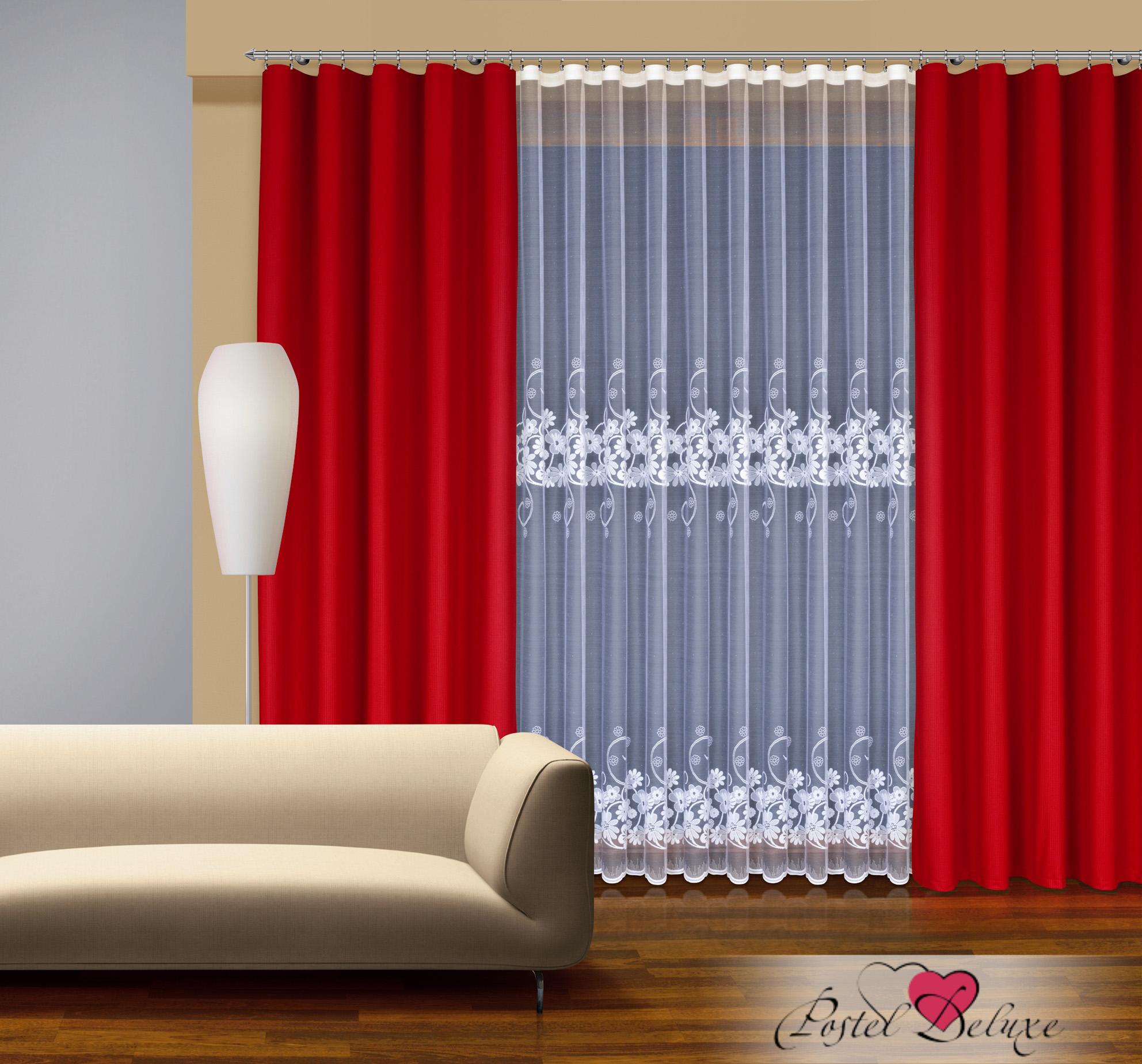 Шторы Haft Классические шторы Noemi Цвет: Красный шторы tac классические шторы winx цвет персиковый 200x265 см
