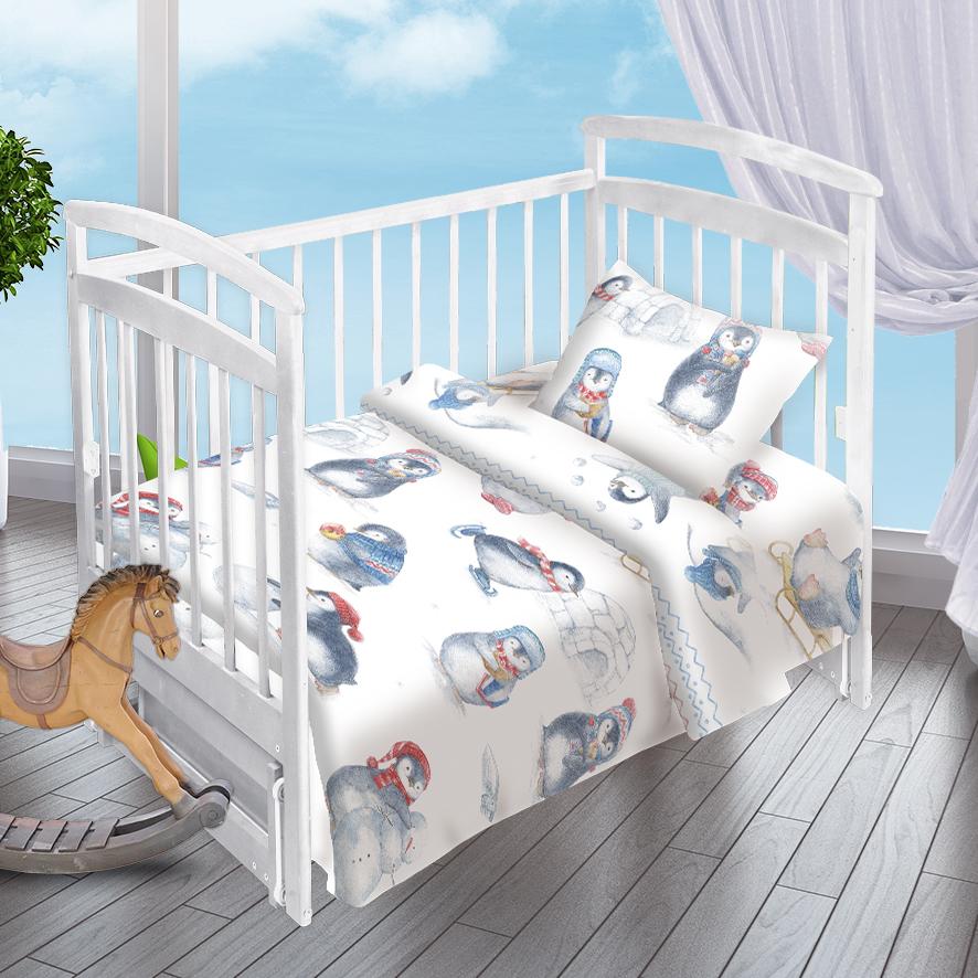 Детское Постельное белье Valtery Детское Постельное белье Пингвинята (112х147 см) детское постельное белье valtery детское постельное белье облачные мишки 112х147 см