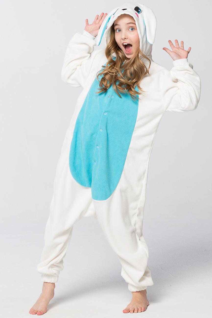 Детские пижамы Футужама Детская пижама-кигуруми Заяц Голубой (3-4 года)