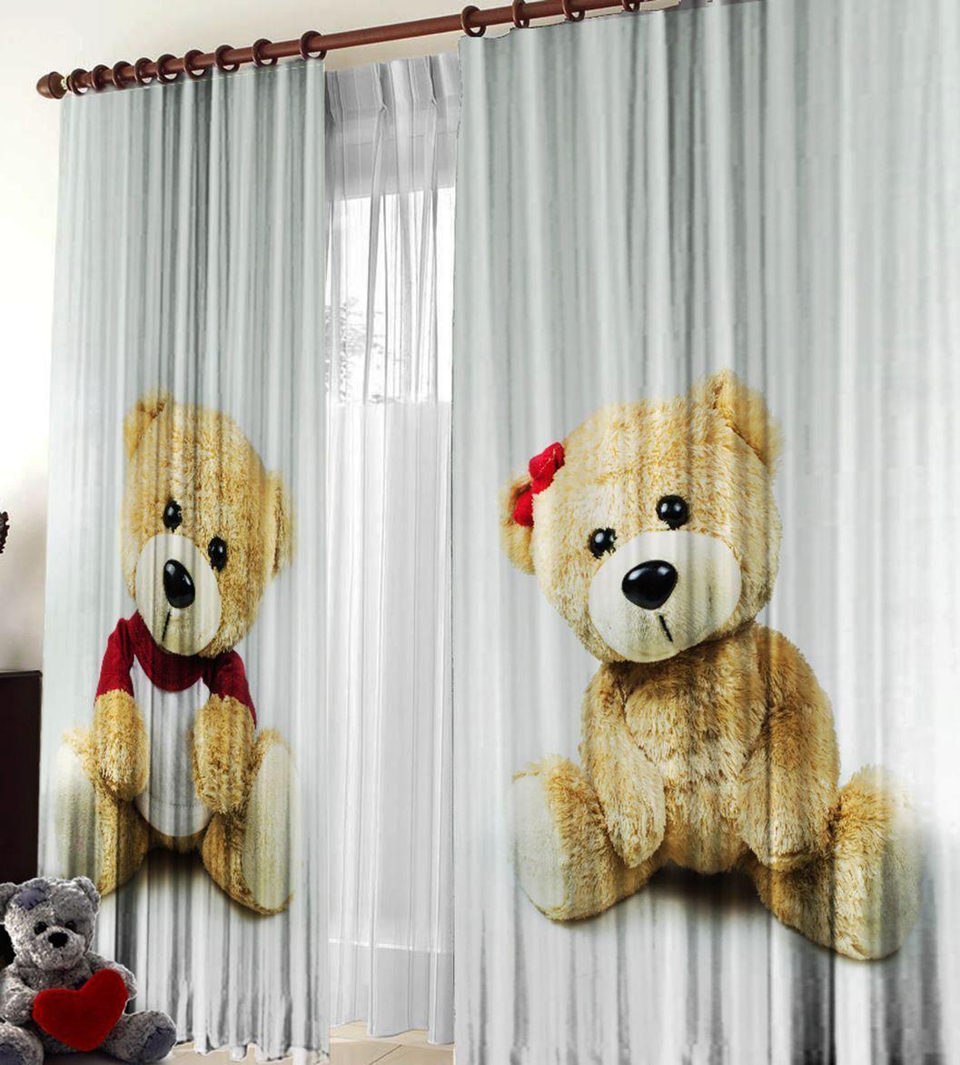 Шторы Elegante Фототюль Медвежата салон штор карниз гардины тольятти