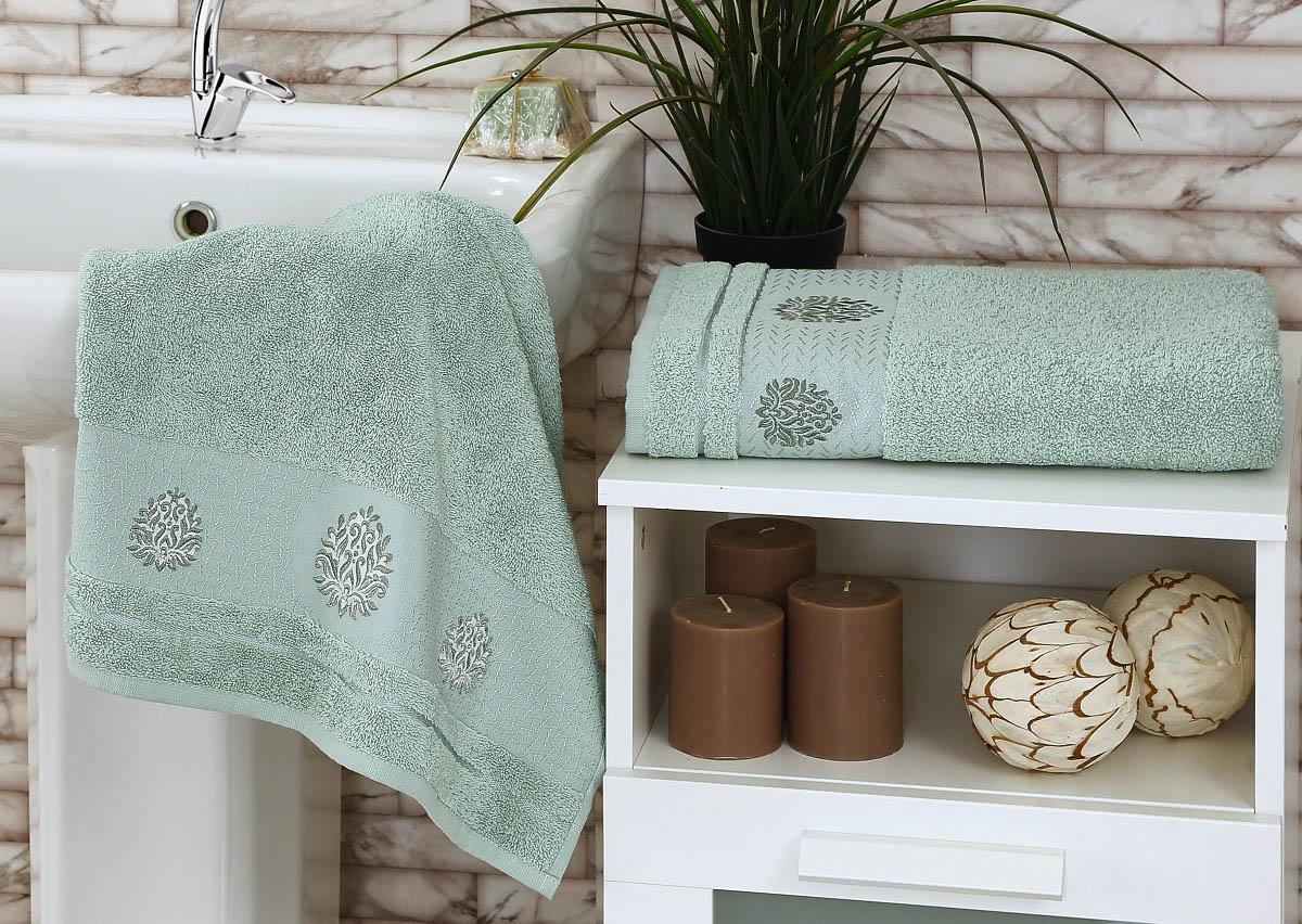 где купить Полотенца Karna Полотенце Devon Цвет: Зеленый (Набор) по лучшей цене
