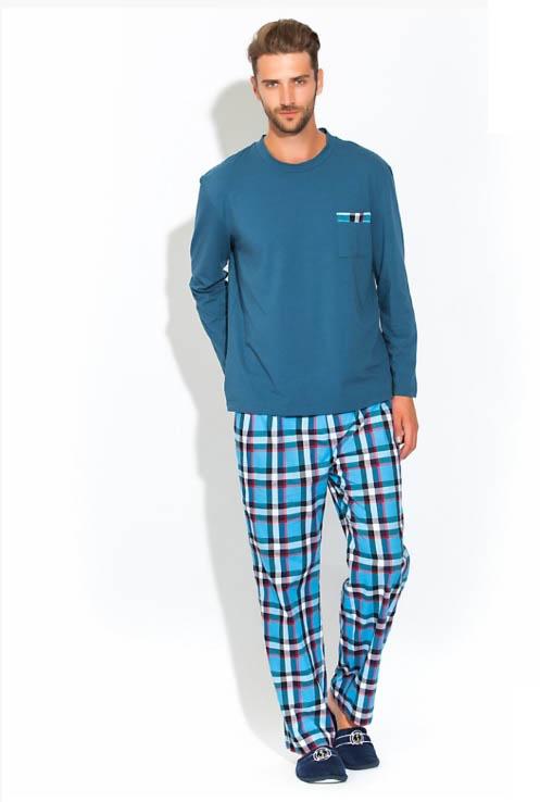 Пижамы Peache Monnaie Пижама Jerry Цвет: Голубой (L) пижамы la pastel пижама кофта с запахом длинный рукав штаны длинные белый голубой размер xl