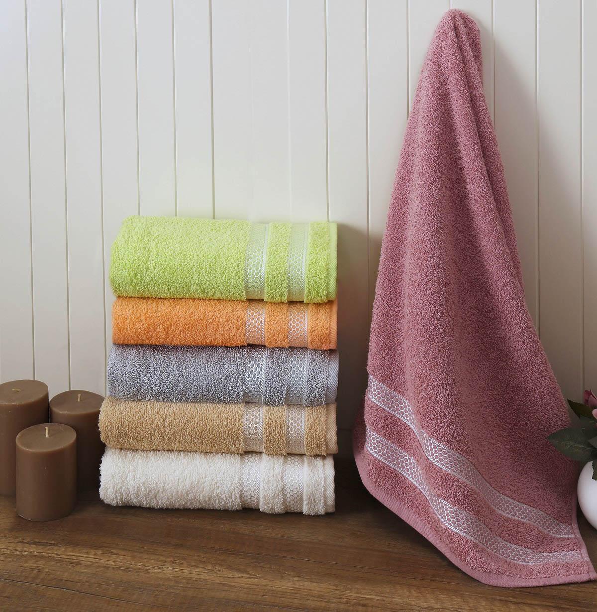Полотенца Karna Полотенце Petek Цвет: Грязно-Розовый (70х140 см) modalin modalin полотенце petek цвет розовый 70х140 см