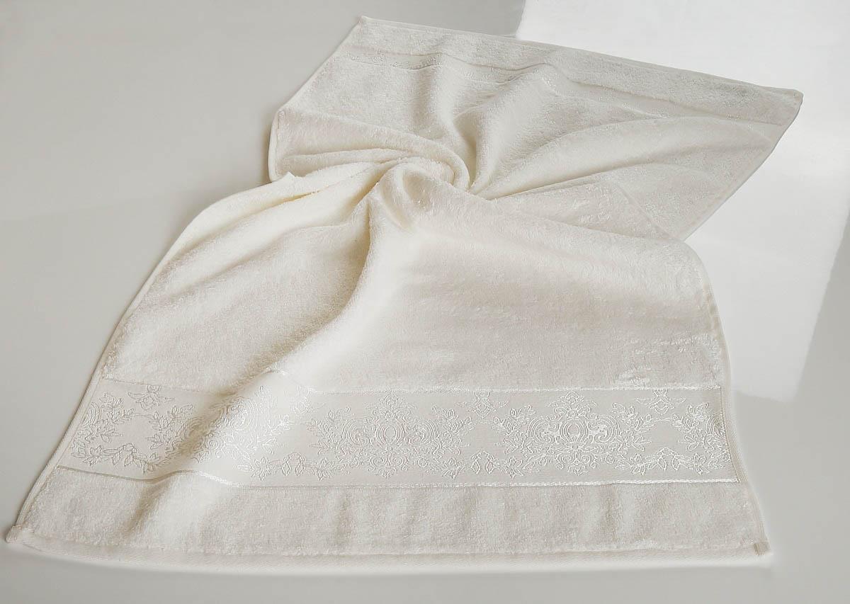 где купить Полотенца Karna Полотенце Pandora - 1 Цвет: Кремовый (70х140 см) по лучшей цене