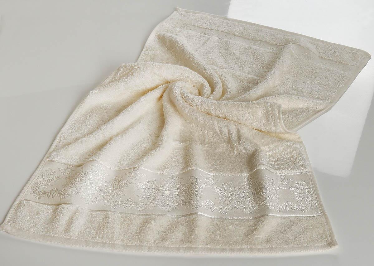 все цены на Полотенца Karna Полотенце Pandora - 2 Цвет: Кремовый (50х90 см) онлайн