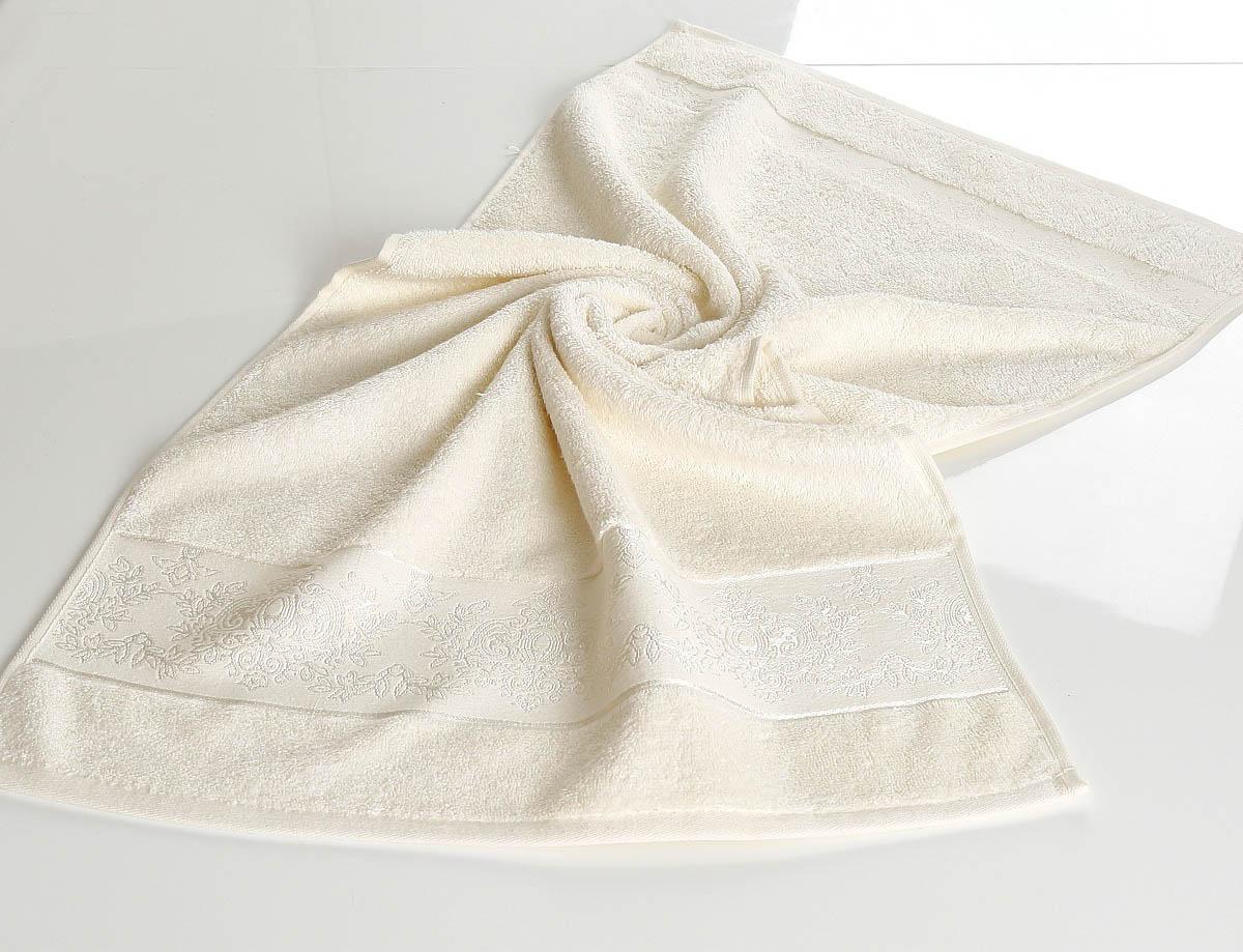 где купить Полотенца Karna Полотенце Pandora - 3 Цвет: Mолочный (50х90 см) по лучшей цене
