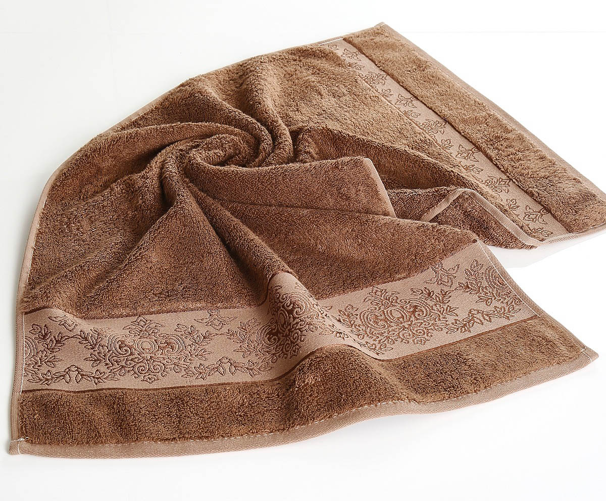 Полотенца Karna Полотенце Pandora - 3 Цвет: Коричневый (70х140 см) полотенца karna полотенце iteka цвет коричневый 70х140 см