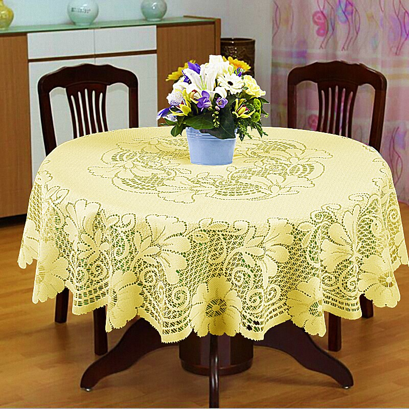 Скатерти и салфетки Elegante Скатерть Veronica Цвет: Кремовый (круглая 100 см)