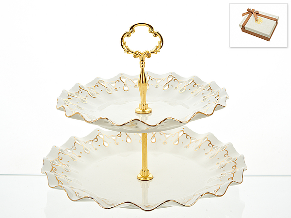 {} Best Home Porcelain Тарелка-этажерка Золотая Роспись (25х30 см) тарелка под пасту 25 5 см royal porcelain тарелка под пасту 25 5 см page 4