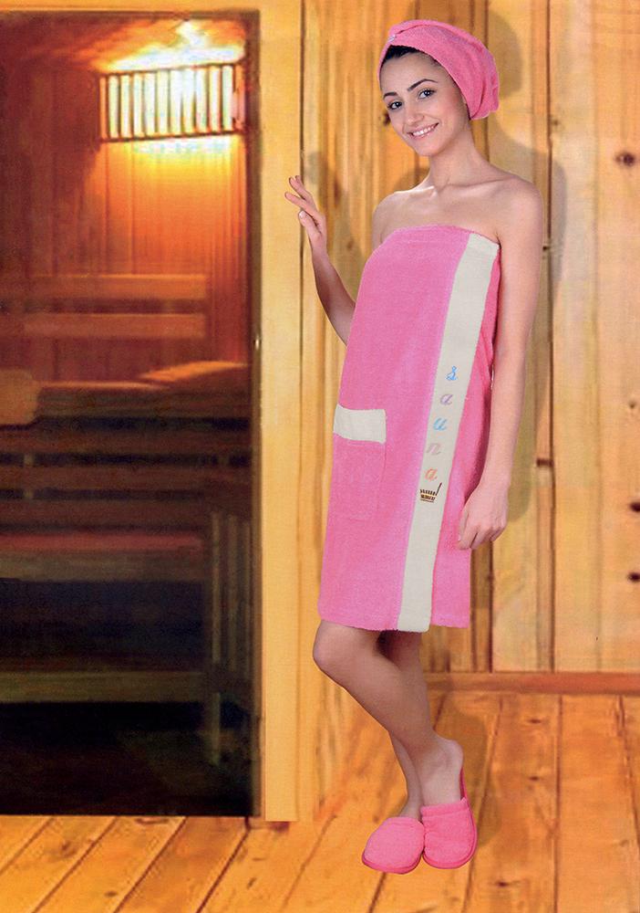 Сауны, бани и оборудование Yagmur Набор для сауны Lola Цвет: Ярко-Розовый сауны бани и оборудование valentini набор для сауны fashion цвет песочный