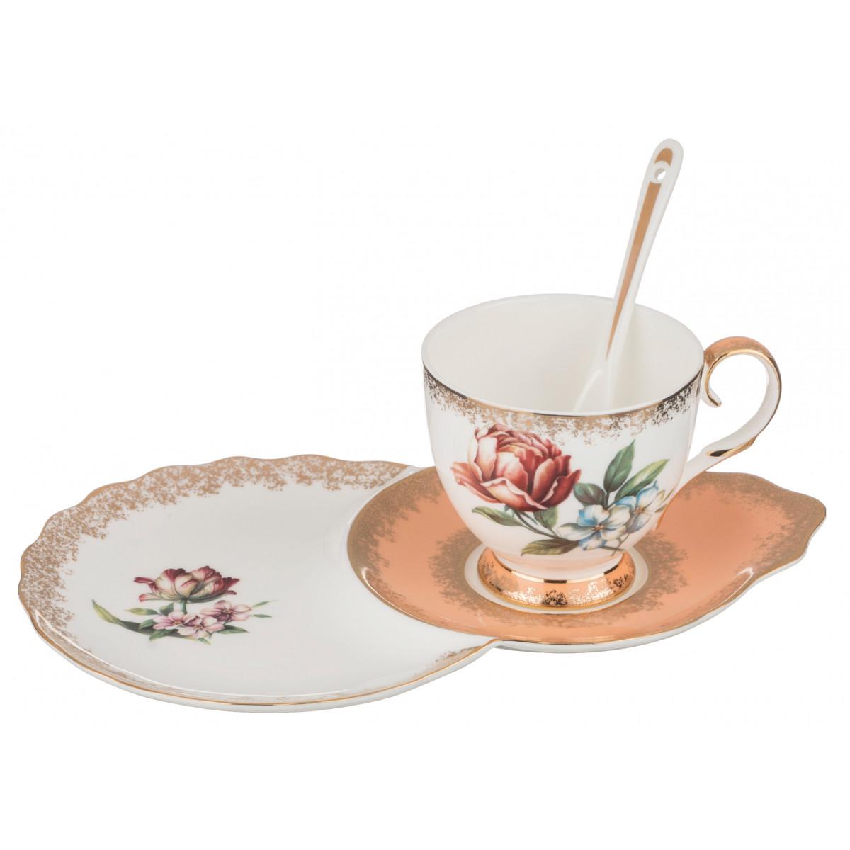 {} Lefard Чайная пара Амелия (250 мл) чайная пара с крышкой кобальтовая сетка форма подарочная 2 ифз