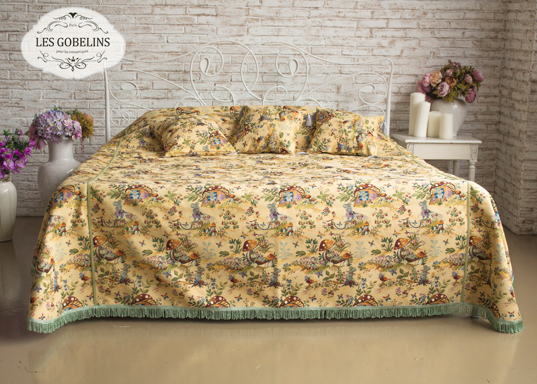 Детские покрывала, подушки, одеяла Les Gobelins Детское Покрывало на кровать Souris Drole (260х240 см)
