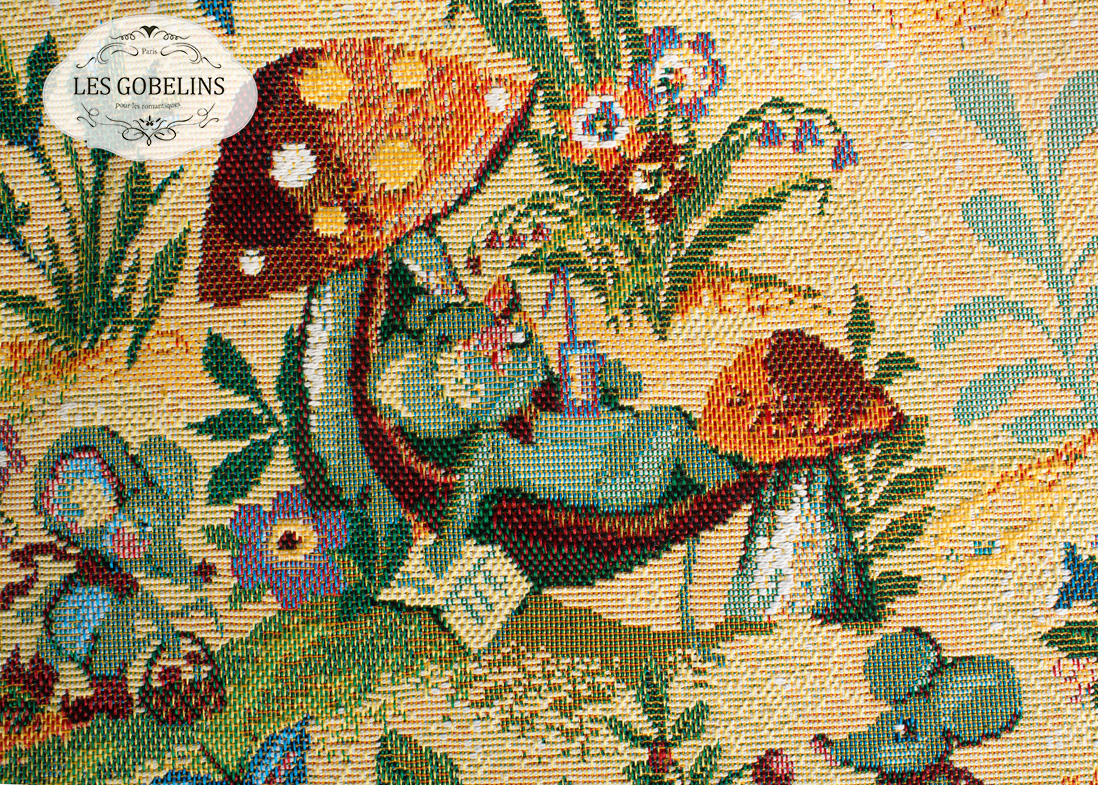 Детские покрывала, подушки, одеяла Les Gobelins Детская Накидка на диван Souris Drole (150х160 см)