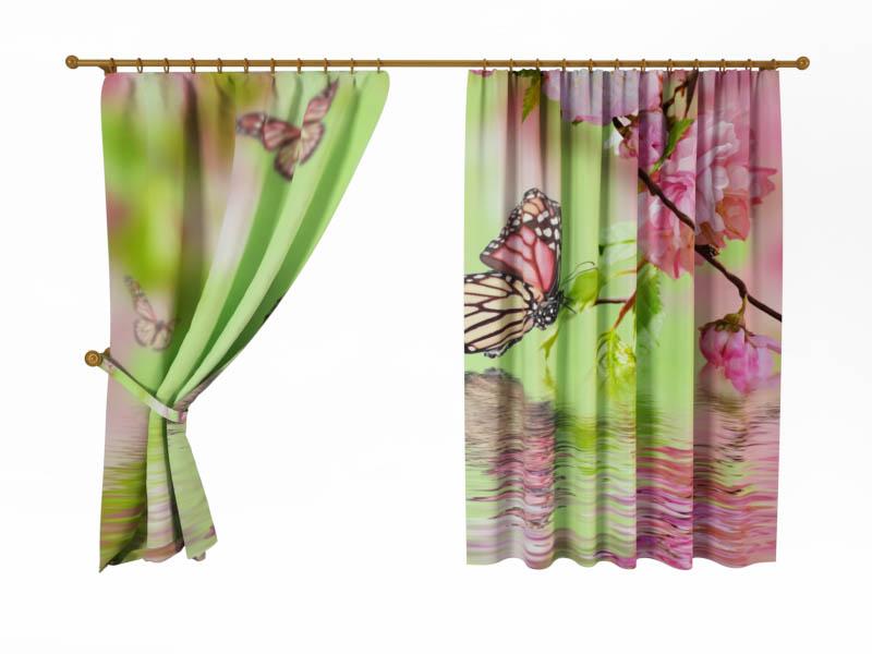 Шторы StickButik Фотошторы Бабочка Над Водой шторы stickbutik фотошторы тюльпаны над водой