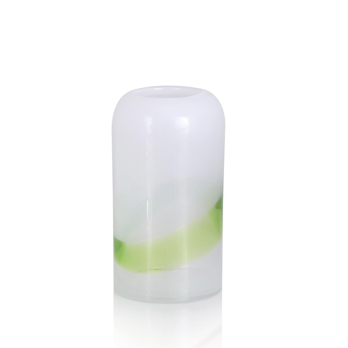 {} Home Philosophy Ваза Anoxion Цвет: Белый-Салатовый (12х12х21 см) home philosophy ваза mariana цвет молочный набор