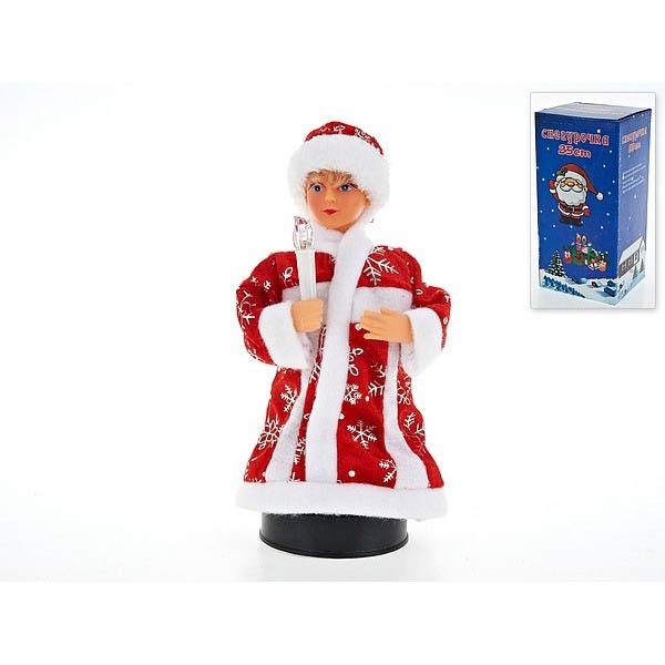 {} Monte Christmas Фигурка Снегурочка С Фонариком (25 см) monte christmas фигурка музыкальная monte christmas n9750006 мульти