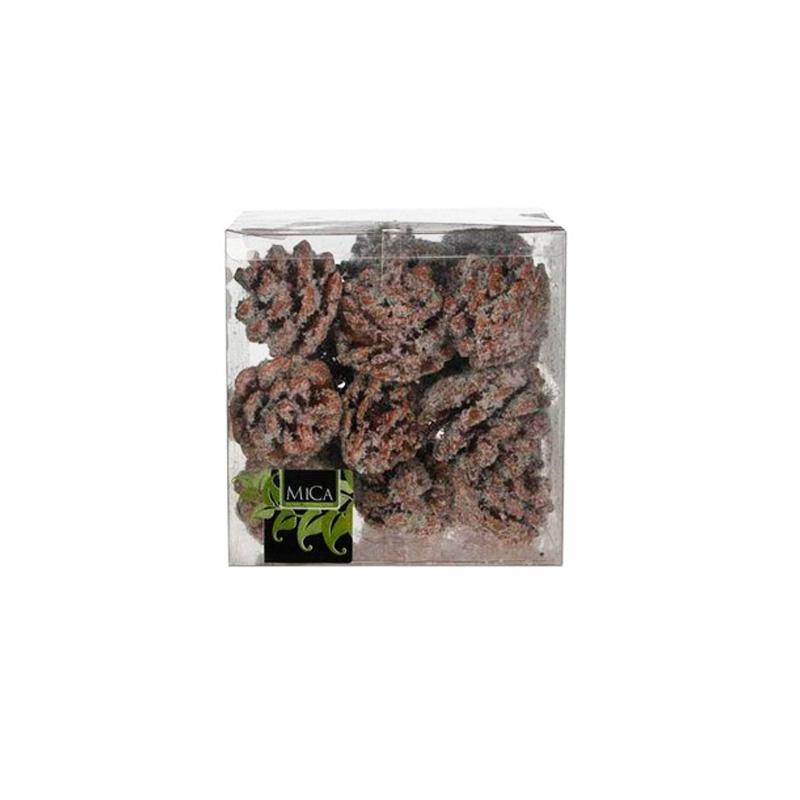 венок лесные сокровища заснеженный шишки и ягоды kaemingk 50см {}  Шишки декоративные Цвет: Заснеженный (15х15х15 см)