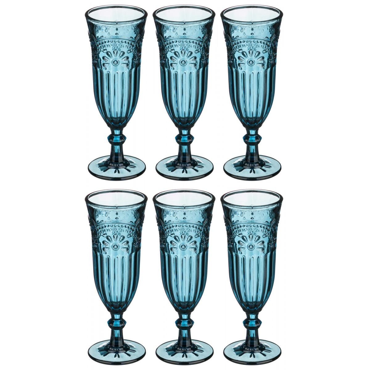 {} MUZA Набор бокалов для шампанского Kaelea  (19 см - 6 шт) набор бокалов crystalex джина б декора 6шт 210мл шампанское стекло