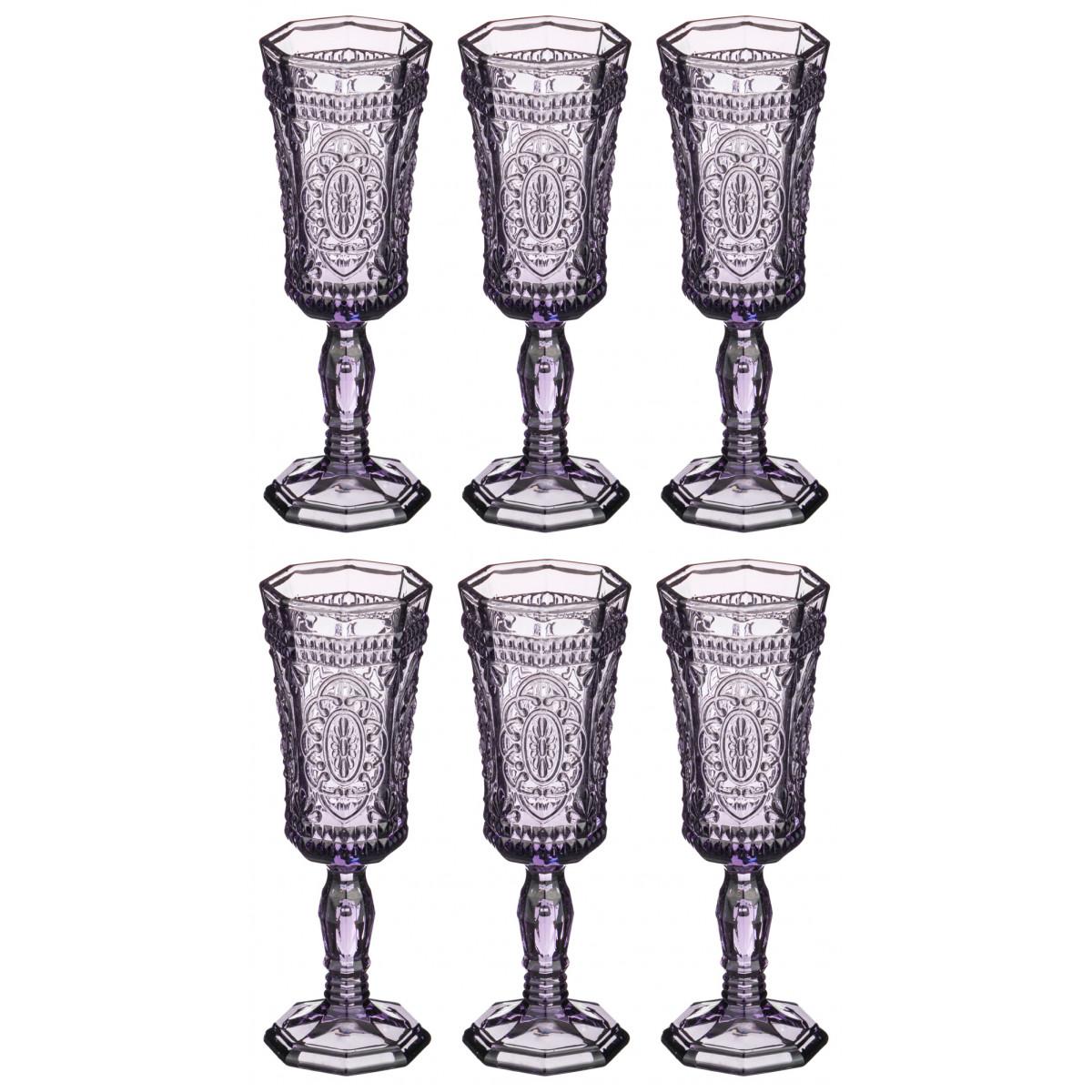 набор бокалов bistro д шампанского 2шт 275мл стекло {} MUZA Набор бокалов для шампанского Cooper  (19 см - 6 шт)