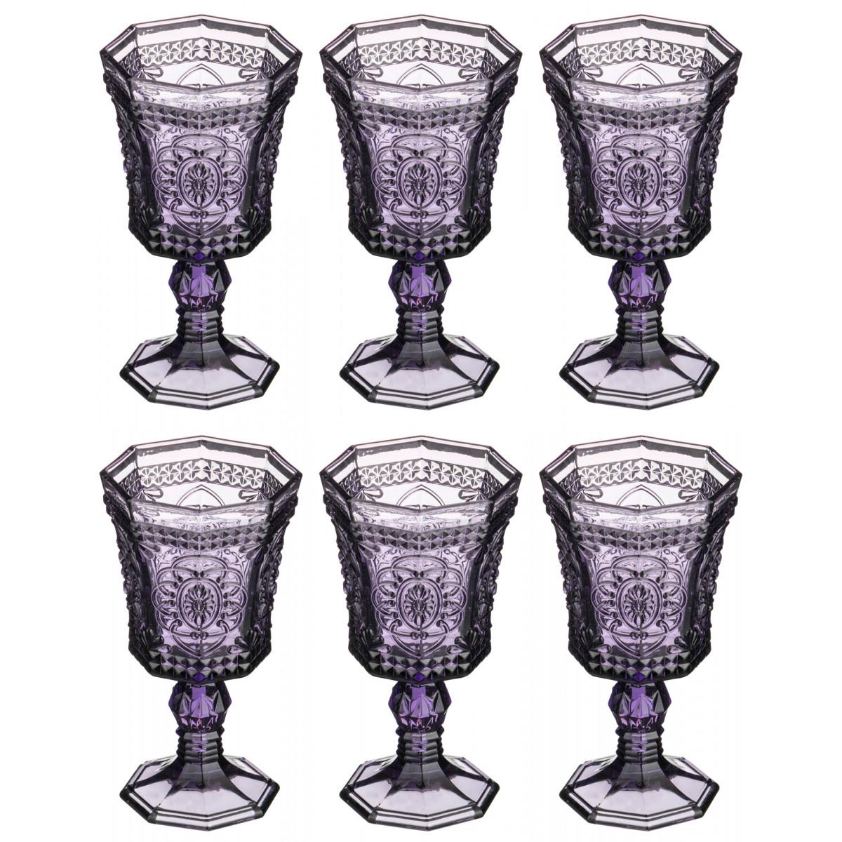 {} MUZA Набор бокалов для вина Sammie  (16 см - 6 шт) giftman набор бокалов для молодоженов нежность 21 см авторская работа белый