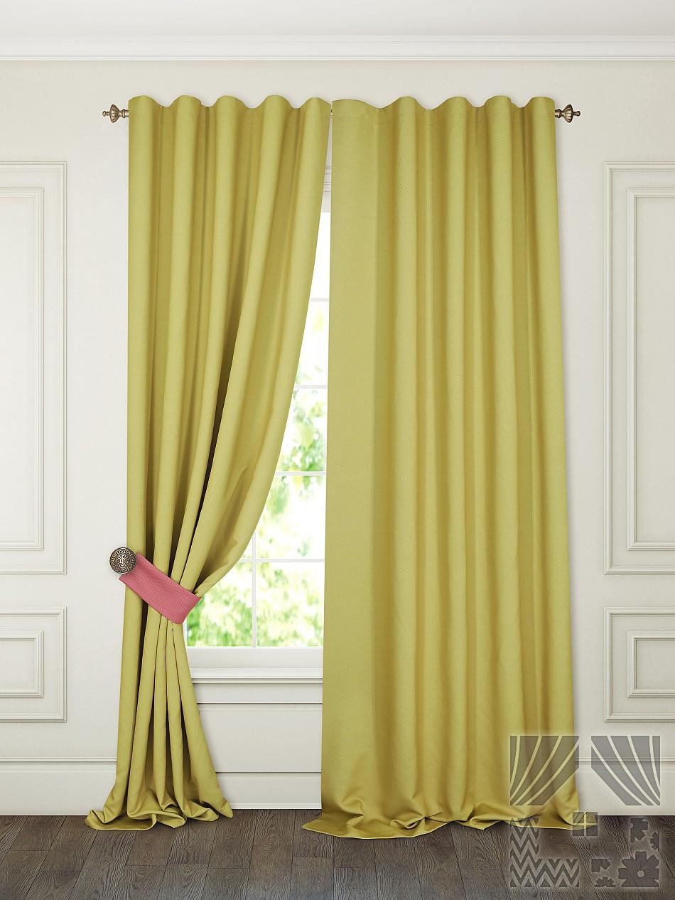 Шторы ТомДом Классические шторы Тиаго Цвет: Лимонный шторы primavera классические шторы maev цвет персиковый