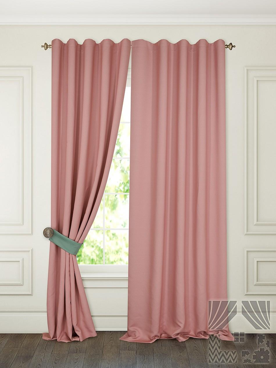 Шторы ТомДом Классические шторы Тиаго Цвет: Розовый шторы tac классические шторы глянец цвет портьер розовый цвет тюля белый с бежевой полоской