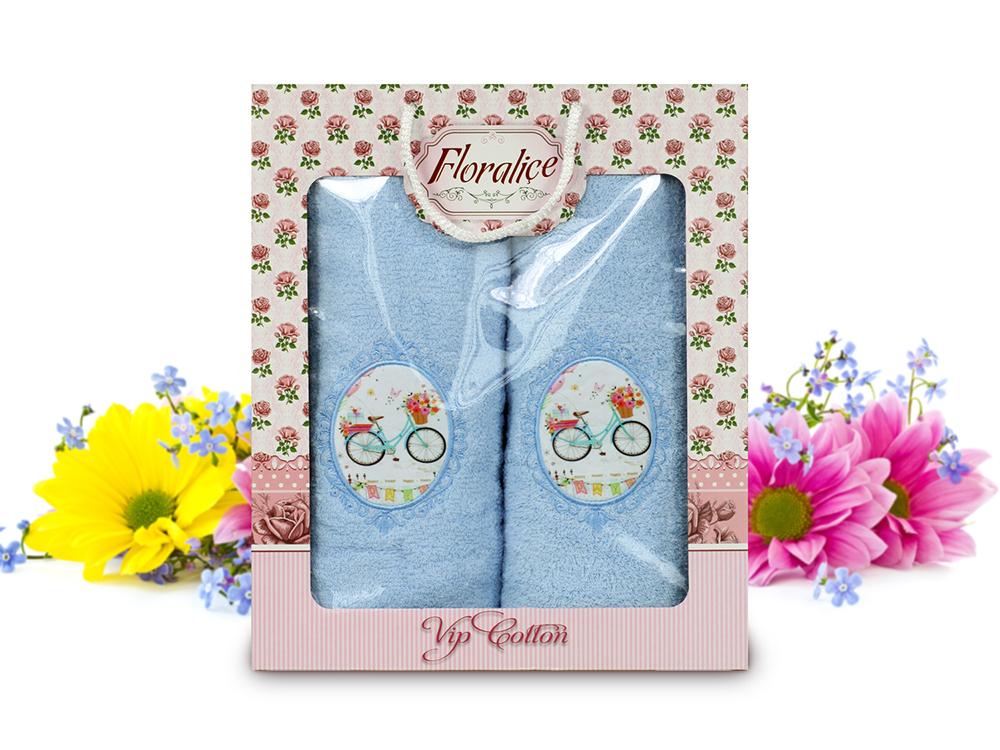 Полотенца Gulcan Полотенце Floralice Цвет: Голубой (Набор) цена и фото