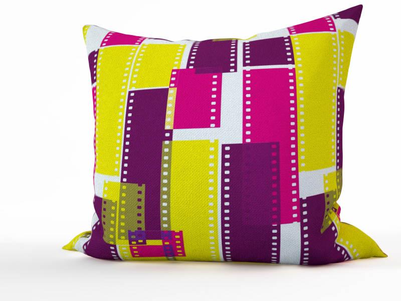 Декоративные подушки StickButik Декоративная подушка Цветное Кино (45х45)