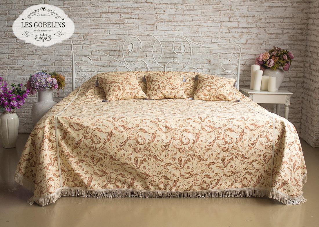 Покрывало Les Gobelins Покрывало на кровать Feuilles Beiges (220х220 см)