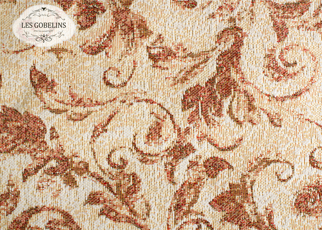 Покрывало Les Gobelins Накидка на диван Feuilles Beiges (140х160 см)