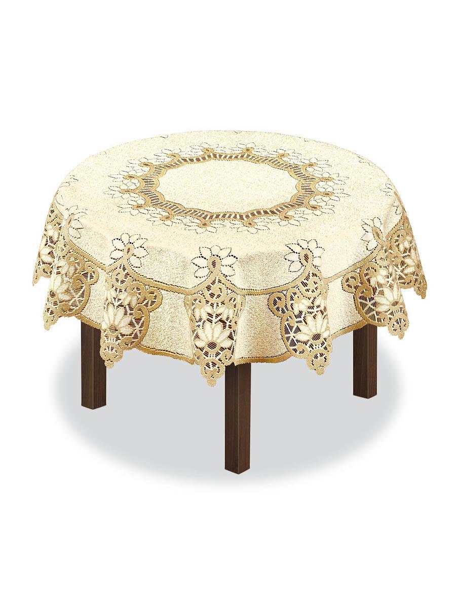 Скатерти и салфетки Haft Скатерть Sherrie Цвет: Кремовый-Золотой (круглая 150 см)