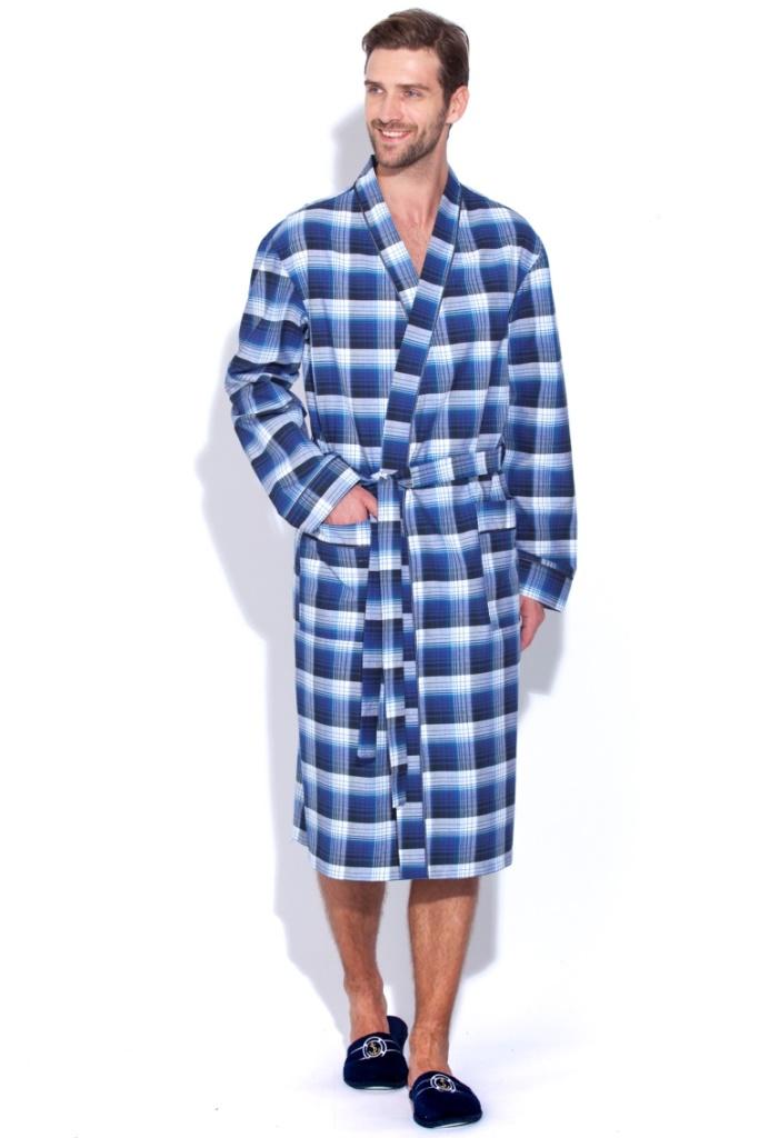 Сауны, бани и оборудование Peache Monnaie Халат Scotland Цвет: Синий (xxL) купить шелковый халат мужской спб