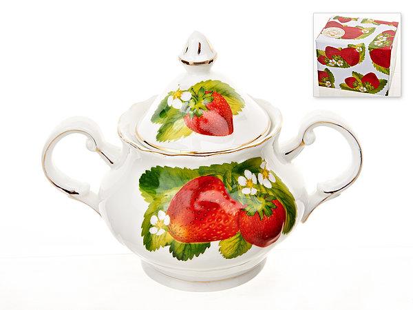 {} Best Home Porcelain Сахарница Спелая Клубника (12 см) сахарница 17х11х12 см best home porcelain сахарница 17х11х12 см